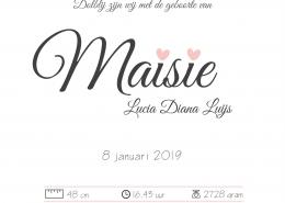 Geboortekaartje Maisie CREET!NL©